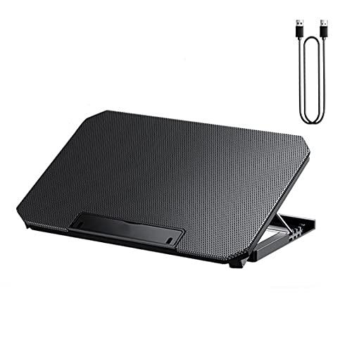 GZZG Base de refrigeración del dispositivo de refrigeración del portátil, alimentación USB portátil fino (2 ventiladores), negro, 12 – 17 pulgadas (color: negro, tamaño: 25 x 35 x 2,7 cm)