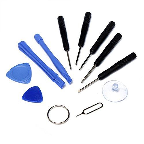 Cewaal Juego de Herramientas de reparación Universal de 11 Piezas, Destornillador + Palanca, para iPhone 7 7 Plus 6s 6s más 6 6 más 5s 5c 5 SE 4 4s iPad iPods, Tableta de teléfono Inteligente