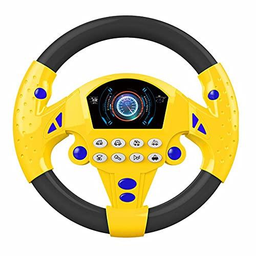 healthwen Volante Coches de Juguete Conducción simulada Volante Música eléctrica Simulación Música...