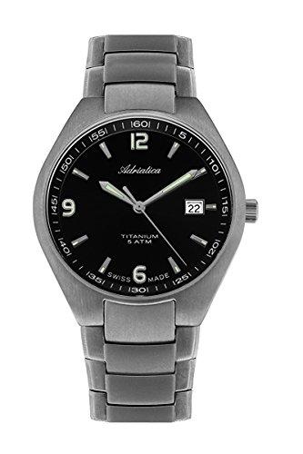 Adriatica Watch for a man Herren-Armbanduhr Titan Gehäuse und Armband A1069.4154Q