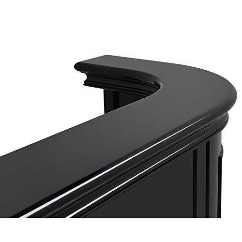 Black Salon Reception Desk