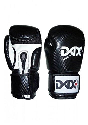 DAX Boxhandschuhe Onyx TT, Schwarz-Weiß 10 oz