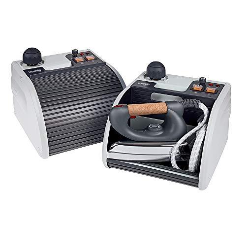 Polti Vaporella Super Pro Centro de planchado a vapor, tapón de seguridad, 3 Bar, de colores surtidos, 1.3 L, 1750 W, Aluminio, Gris/Blanco