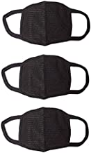 Amour-propre Cotton Mouth Nose Cover Anti-pollution Mask (Black) - Pack of 3