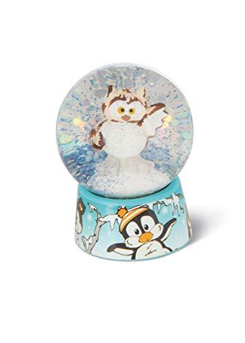 NICI 45754 Schüttelkugel Eule Aurina 6,5cm, süße Schneekugel mit Wintermotiv