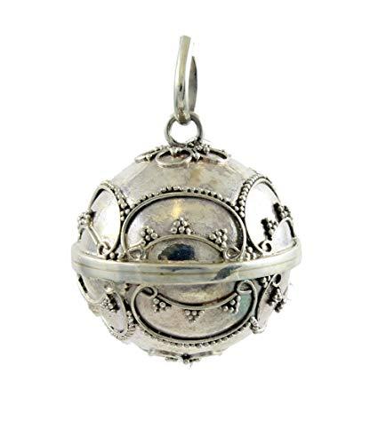 Shadi - Llamador de ángeles de plata de ley - 27 mm - joyería de plata artesanal
