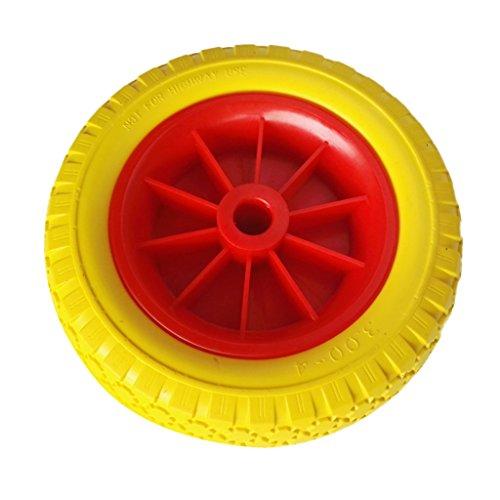 MagiDeal Rueda de Remolque de Kayak Carretillas Sack Camionetas Piraguas Neumático de Goma a Prueba de Puntura de Amarillo + Rojo - 25.4cm / 10inch