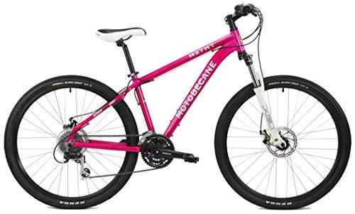 Motobecane W27HT Women Specific Altus 24 Speed 27.5 / 650B Mountain Bike (Pink, 16' - Fits Riders 5'5' to 5'9')