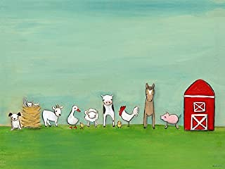 Oopsy Daisy Fine Art for Kids At The Farm Stretched Canvas Art by Creative Thursday by Marisa, 40 by 30-Inch