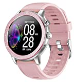 Smart Watch for Android Phones Fitness Tracker Heart Rate Monitor Blood Pressure Activity Tracker Pedometer Blood Oxygen Waterproof Bluetooth Tide Big Face Fitness Tracker for Women Ladies