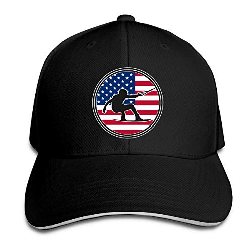 MASHRO Mannen Womens Wakeboard Amerika Vlag Golf Hoed Honkbal Cap