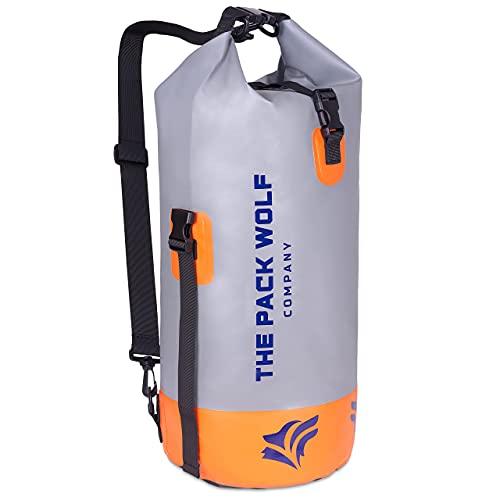 The Pack Wolf Company Bolsa Seca Impermeable Mochila 20L Dry Bag Estanca Correas de Hombro Ajustables Kayak Senderismo Canotaje Flotante
