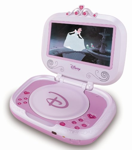 Lexibook DVDP2DP - Tragbarer DVD Player Disney Princess