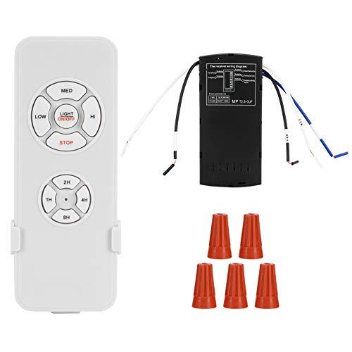 Kit de control remoto para ventilador de techo con control remoto inalámbrico e interruptor de sincronización del receptor para lámpara de ventilador de techo