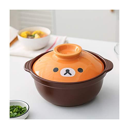 Gusstopf Cocotte Bräter emailliert temperaturbeständig Gusseisen Topf Shadow Kochtopf,Keramik-Eintopf aus tiefem Ton Eintopf aus trocken gebranntem, hitzebeständigem Gasherd für allgemeine Zwecke-