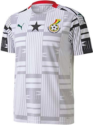 PUMA World Cup Soccer Ghana Football Association Home Replica Shirt Mens Ghana Football Association Home Replica Shirt, Puma White-Puma Black, L