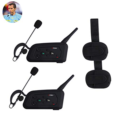 LNLJ - Intercomunicador de árbitro con Bluetooth, doble vía para entrenador de fútbol, sistema de comunicación de árbitro con brazalete, puede acomodar a 4 usuarios de 1200 m, 2 unidades., L