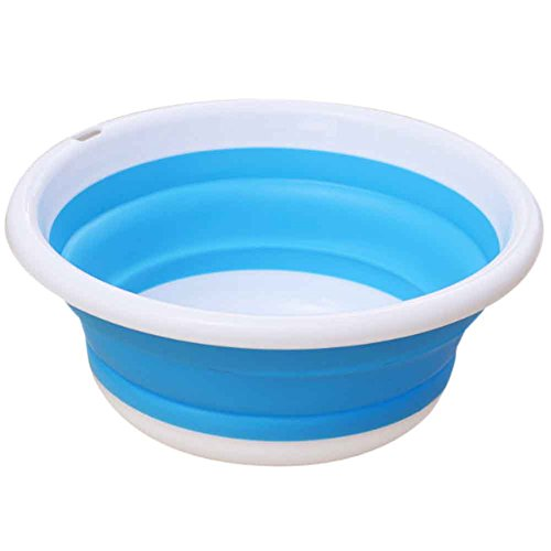 Cumbre 3colores pop-up plegable bol de lavado lavabo topind plegable portátil camping caravana coche lavado herramienta cocina y baño accesorios, azul