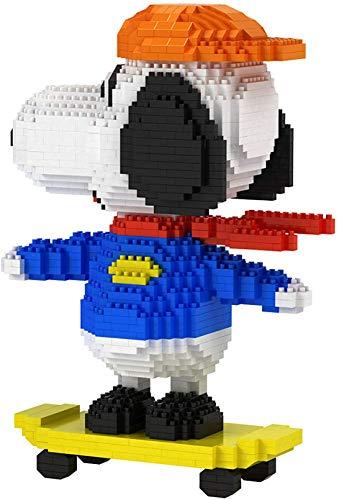 QSSQ Snoopy Series Figure Model Micro Mini Blocks Set, Multi-Style 3D Puzzle Toys, Adornos para Perros Y Mascotas para La Decoración del Hogar, Niños, Niñas Y Adultos,I