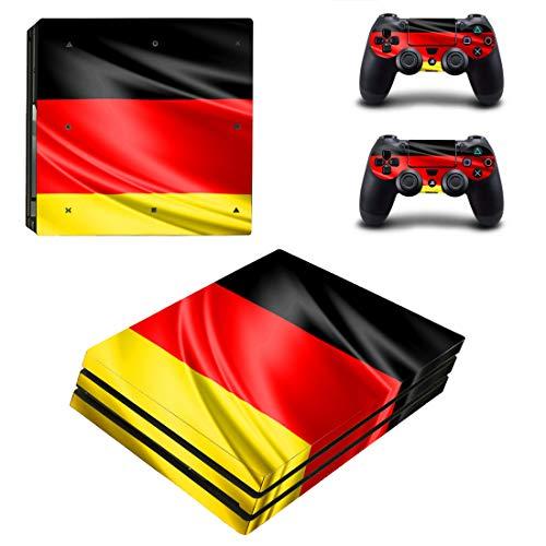 46 North Design Playstation 4 PS4 Pro Folie Skin Sticker Konsole Germany Flag aus Vinyl-Folie Aufkleber Und 2 x Controller folie
