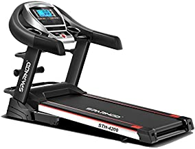 Sparnod Fitness STH-4200 (4.5 HP Peak) Automatic Treadmill (Free Installation Service) - Foldable Motorized Walking & Runn...