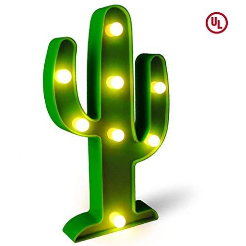 LED Cactus Light, Fiesta Decorations Light, Cute Cactus Night Table Lámparas, para la habitación de los niños, dormitorio, regalo, Fiesta Party Supplies, jardín, decoraciones para el hogar (verde)
