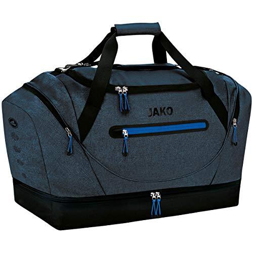JAKO Sporttasche Champ - mit Schuhfach, Größe:02, Farbe:royal meliert
