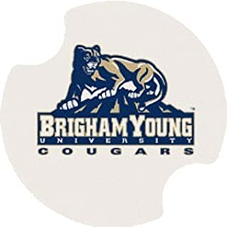 Thirstystone Brigham Young University Car Cup Holder Coaster, 2-Pack