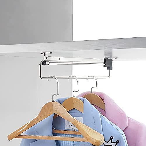 colgador de ropa ajustable, armario extraíble que ahorra espacio, adecuado para todo tipo de armarios del hogar,...