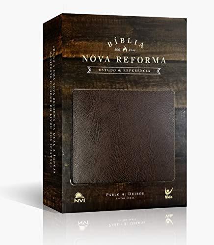 Bíblia Nova Reforma Nvi Capa Couro Ecologico Marrom