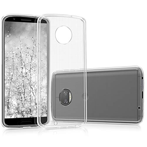 kwmobile Hülle kompatibel mit Motorola Moto G6 - Silikon Handyhülle transparent - Handy Hülle in Transparent