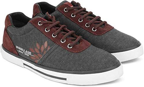 Woodland Men's Black Canvas Sneakers - 5 UK/India (39EU), (GC 2730117C)