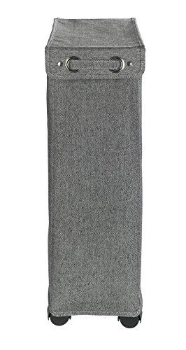 40/x 18/x 60/cm poli/éster Negro Wenko Corno Prime Color Blanco Cubo de lavander/ía Cesto con Tapa Capacidad 43/L