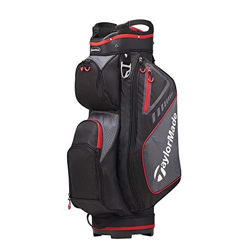TaylorMade 2019 Golf Select Cart Bag, Black/Red