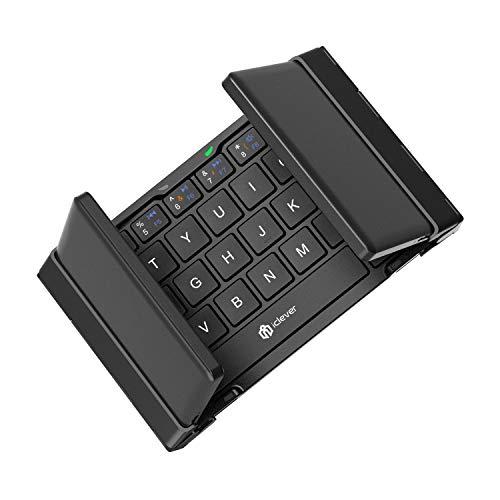 iClever 折りたたみ Bluetooth キーボード 軽量 薄型 ワイヤレスキーボード 充電式 iPhone/iPad/Andriod 対...