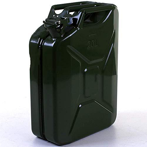 YBLS Las Piezas de automóvil 20L bidones metálicos de Gasolina, Combustible Diesel, Diesel, Aceite Combustible, Agua, contenedores, Tanques, barriles,Traditional Army Green