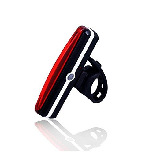 Ultra USB brillante luz de la bici de la cola de la bicicleta recargable de la luz roja de alta intensidad de la parte posterior LED de seguridad de ciclo adapta en cualquier Bicicletas Cascos de