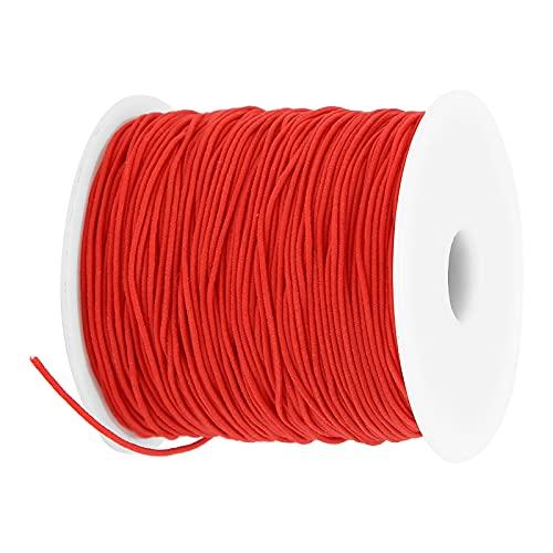 XINL Cordón elástico, Pulseras Manualidades de Bricolaje Pulsera Collares de Cuerda para Hacer dobladillos para Confeccionar Ropa