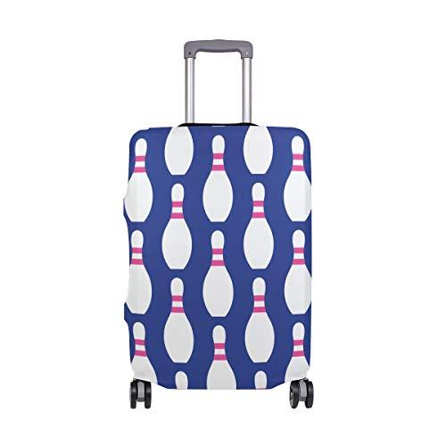 Orediy Elastische Reisegepäckabdeckung Bowling-Blau Bedruckt Trolley Case Protector (ohne Koffer) S M L XL Größe, Multi (Mehrfarbig) - suitcasecover