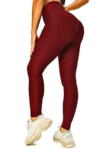 FITTOO Sport Leggings Damen High Waist Push Up Boom Booty Anti Cellulite Leggins Damen Kurz Butt Lifting Kurze Leggings Scrunch Butt Sportleggins Jogginghose Yogahose Fitnesshose für Gym Yoga Workout