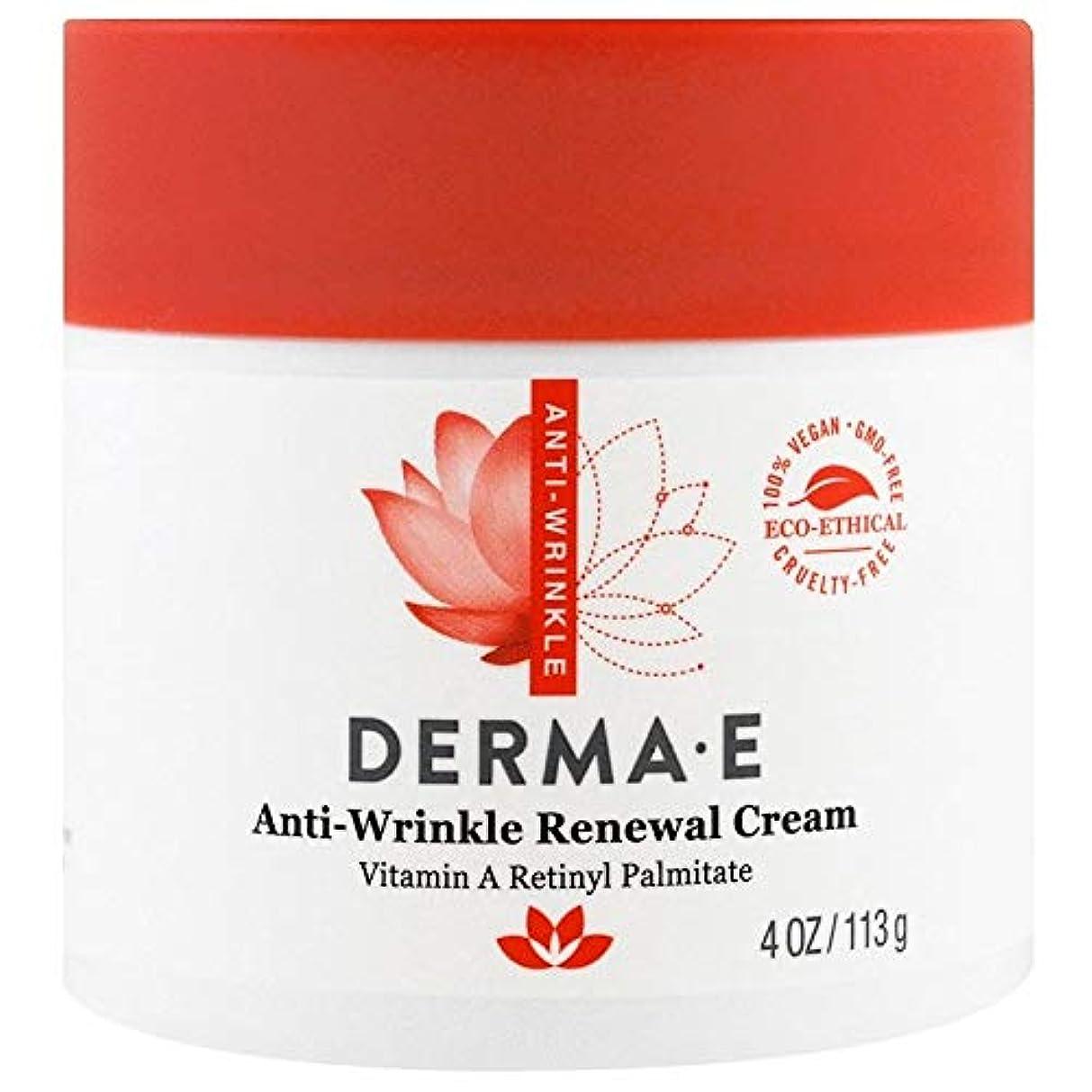 天窓分配します未来Derma E, Anti-Wrinkle Vitamin A Retinyl Palmitate Cream, 4 oz (113 g)X 3 パック並行輸入品