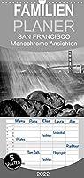 SAN FRANCISCO Monochrome Ansichten - Familienplaner hoch (Wandkalender 2022 , 21 cm x 45 cm, hoch): Klassische Highlights (Monatskalender, 14 Seiten )