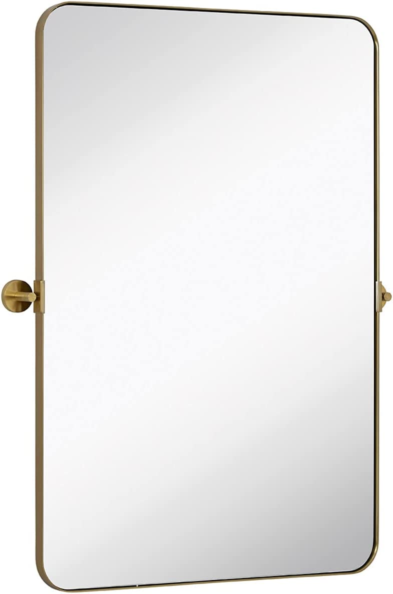 Hamilton Don't miss the campaign Hills Gold Metal Surrounded Mirror Sales results No. 1 Pivot Round Silver