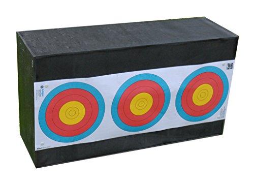 YATE Bogenschießen Zielscheibe Sandwich 66cm x 36cm x 21cm bis 60 lbs (Pfund) Bogensport Bogenschießscheibe Bogenzielscheibe mit 2 Scheibenauflagen 40cmx40cm Indoor & Outdoor