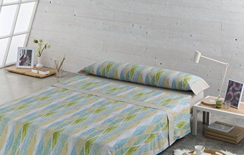 ESTELA ES-Tela Set de draps imprimés Rubis – 50% coton/50% Polyester – 144 Fils – différentes Tailles et Couleurs Cama de 90 cm. Pistache