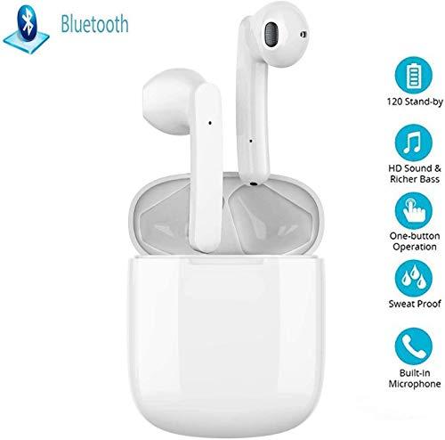 TheBetaPlan Auricolare Bluetooth Touch,Cuffie Bluetooth,24h Playtime 3D Stereo HD Cuffie Wireless, Binaurale Call Auto Pairing,con Scatola di Ricarica,per Samsung/Huawei Sport Auricolari wireless