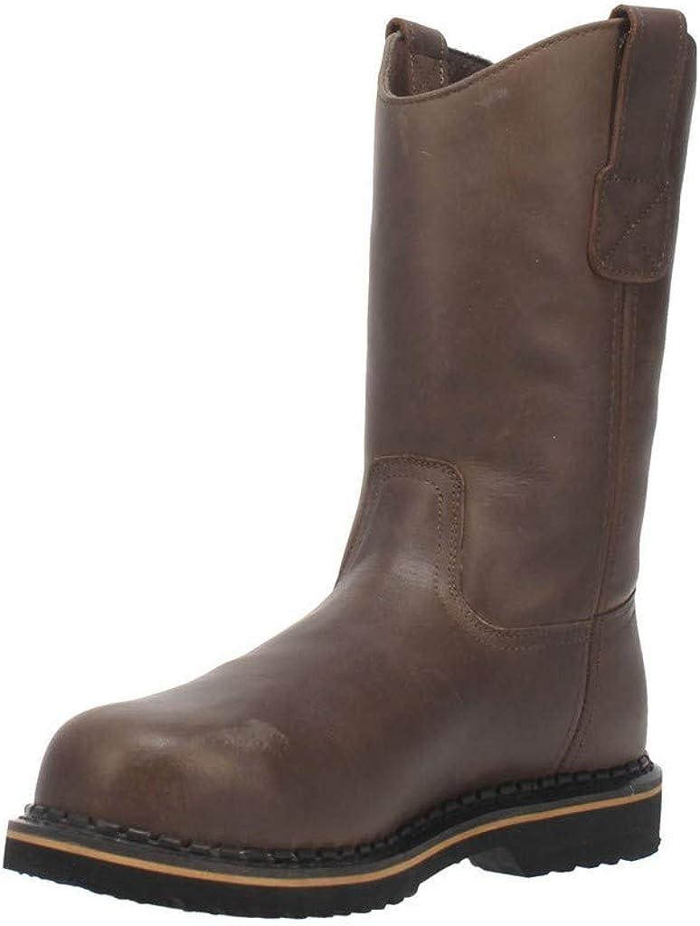 Laredo Mens Rake 11 Inch Electrical Hazard Steel Toe Work Work Safety Shoes Casual - Brown