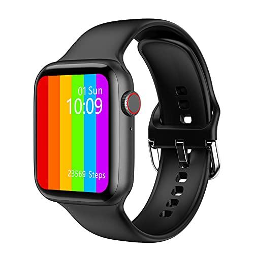 XJPB Smart Watch, reloj deportivo compatible con teléfonos Android e iOS, rastreador de fitness IP68 impermeable, monitor de frecuencia cardíaca, color negro