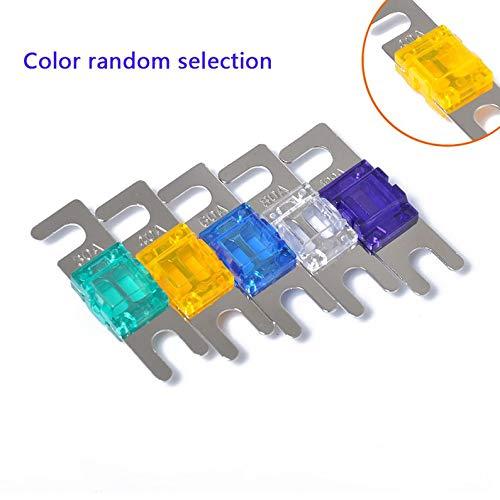ukYukiko 5 Stück 30/40/60/80/100 A Mini ANL Bolzen Gabel Sicherungsset Auto Audio Circuit Breaker