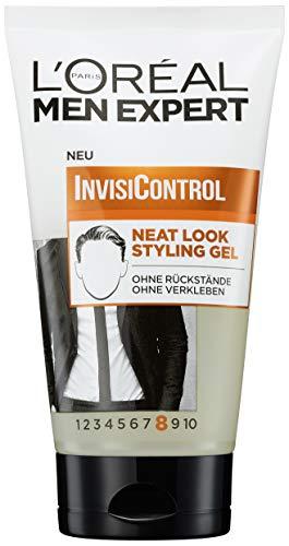 L'Oréal Men Expert Invisicontrol Neat Look Stylisation Gel, pour Correctement Entretenus & Naturel Styles, après Belieben Malléable sans à Colle , 150ml